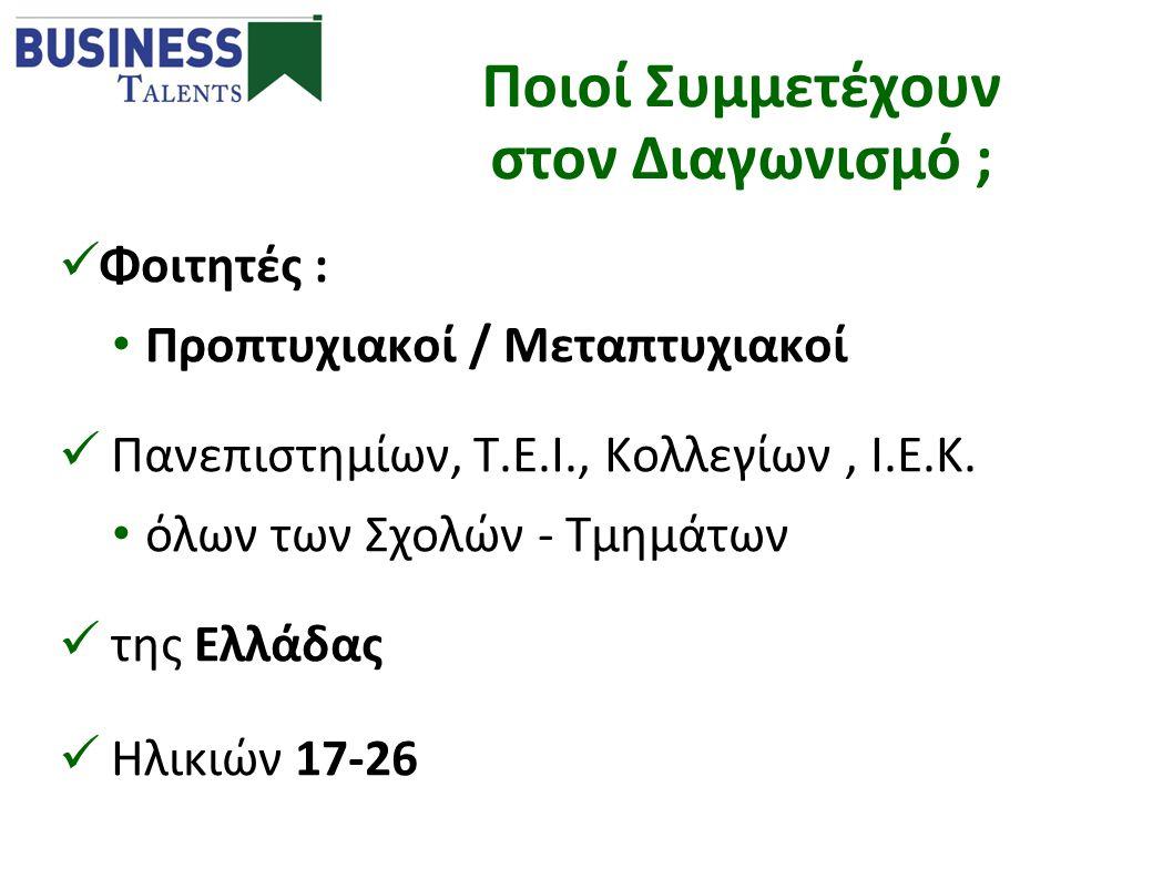  Φοιτητές : • Προπτυχιακοί / Μεταπτυχιακοί  Πανεπιστημίων, Τ.Ε.Ι., Κολλεγίων, Ι.Ε.Κ. • όλων των Σχολών - Τμημάτων  της Ελλάδας  Ηλικιών 17-26 Ποιο
