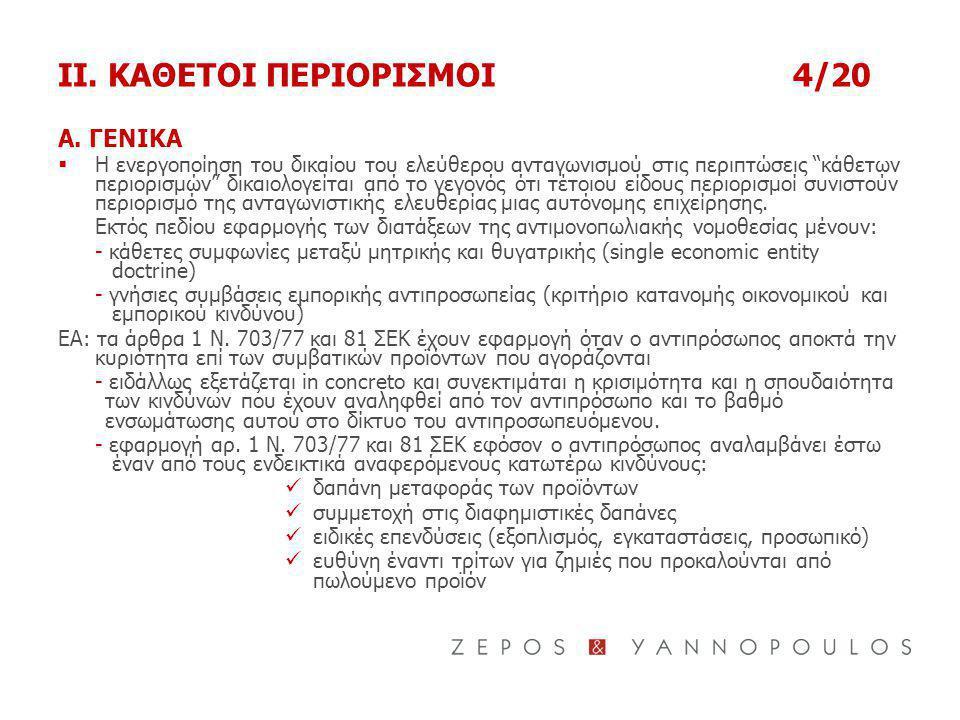 II.ΚΑΘΕΤΟΙ ΠΕΡΙΟΡΙΣΜΟΙ4/20 Α.