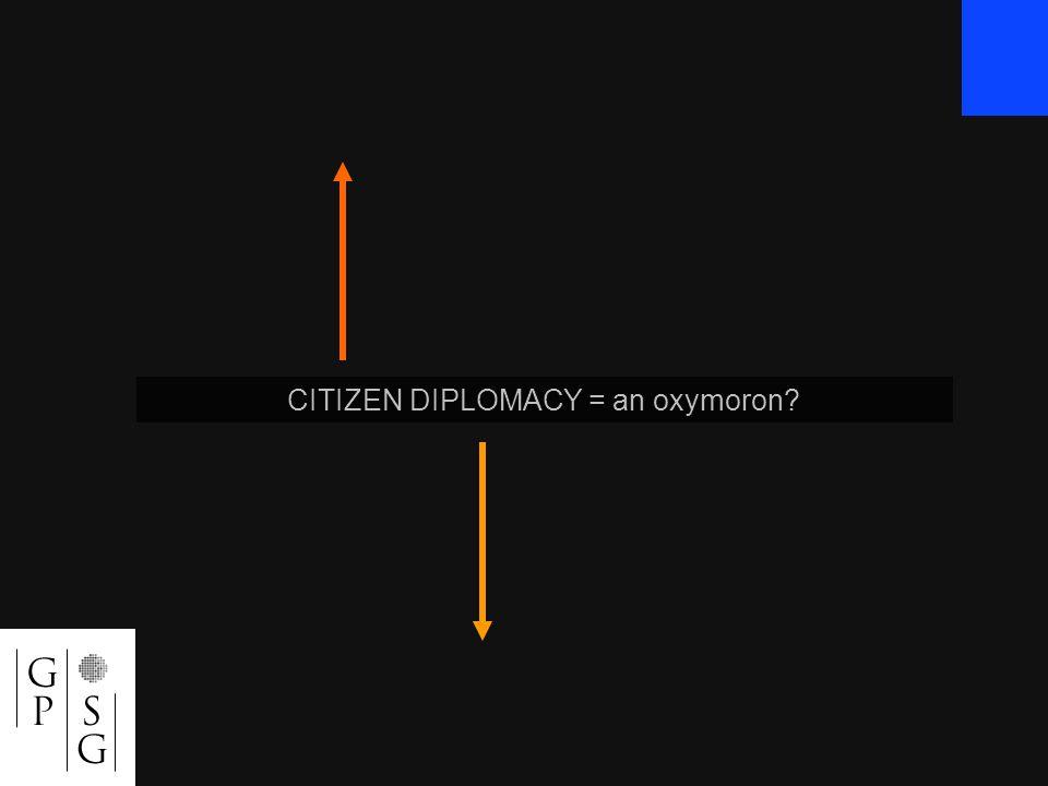 CITIZEN DIPLOMACY = an oxymoron?
