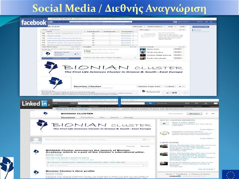 Social Media / Διεθνής Αναγνώριση