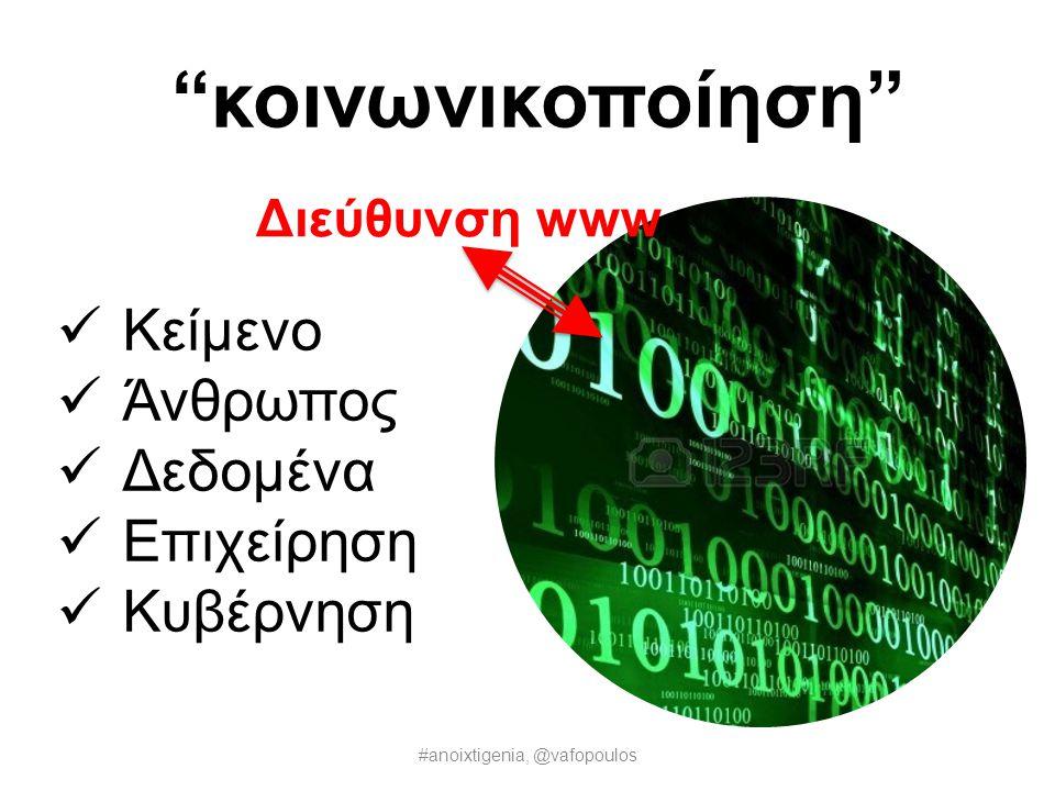 Εμείς η Ανοιχτή Γενιά συνεργαζόμαστε για να ταιριάξουμε Διαδίκτυο με Αρχαία Αγορά #anoixtigenia, @vafopoulos
