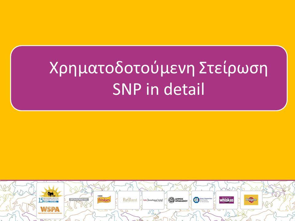 Χρηματοδοτούμενη Στείρωση SNP in detail