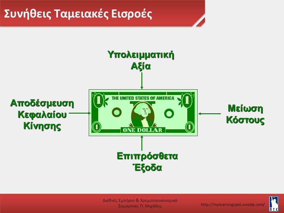 Συνήθεις Ταμειακές Εισροές Διεθνές Εμπόριο & Χρηματοοικονομικά Σαμαρίνας Π. Μιχάλης http://mylearningspot.weebly.com/ΜείωσηΚόστους ΥπολειμματικήΑξία Ε
