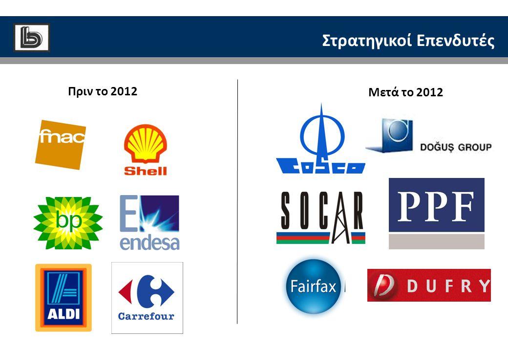 Στρατηγικοί Επενδυτές Μετά το 2012 Πριν το 2012
