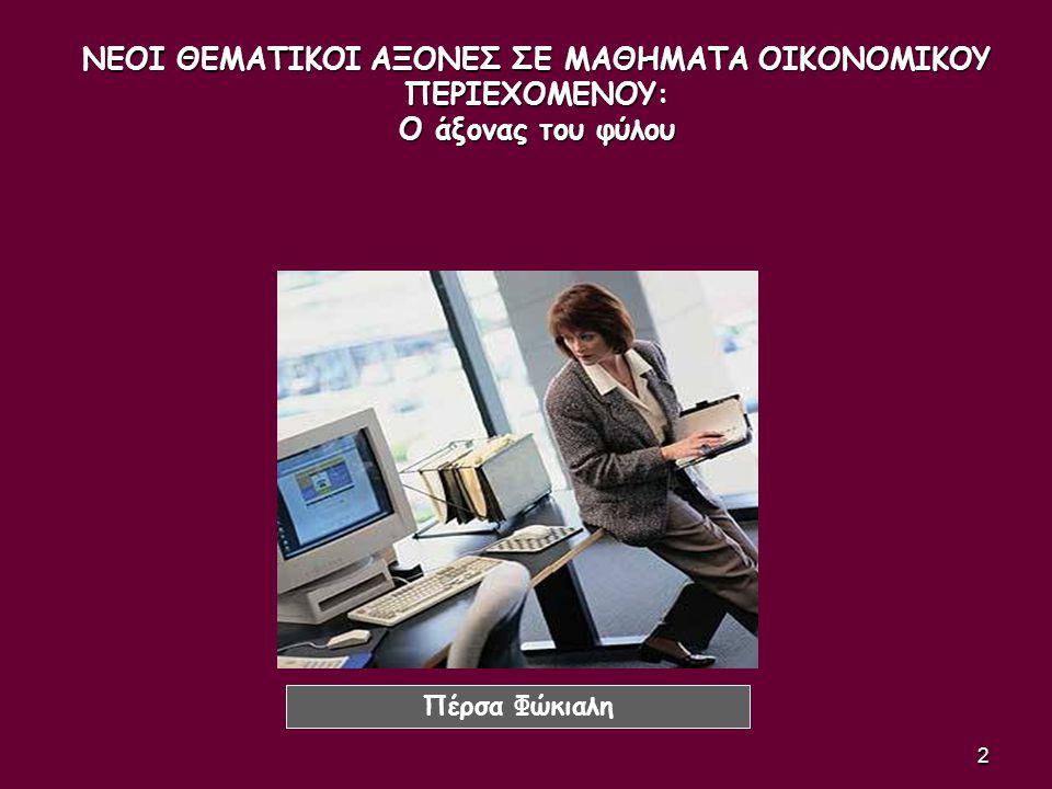 53 Οι γυναίκες: Δεν ανεβαίνουν εύκολα στην πυραμίδα των επαγγελμάτων αλλά μένουν στις χαμηλές βαθμίδες της.