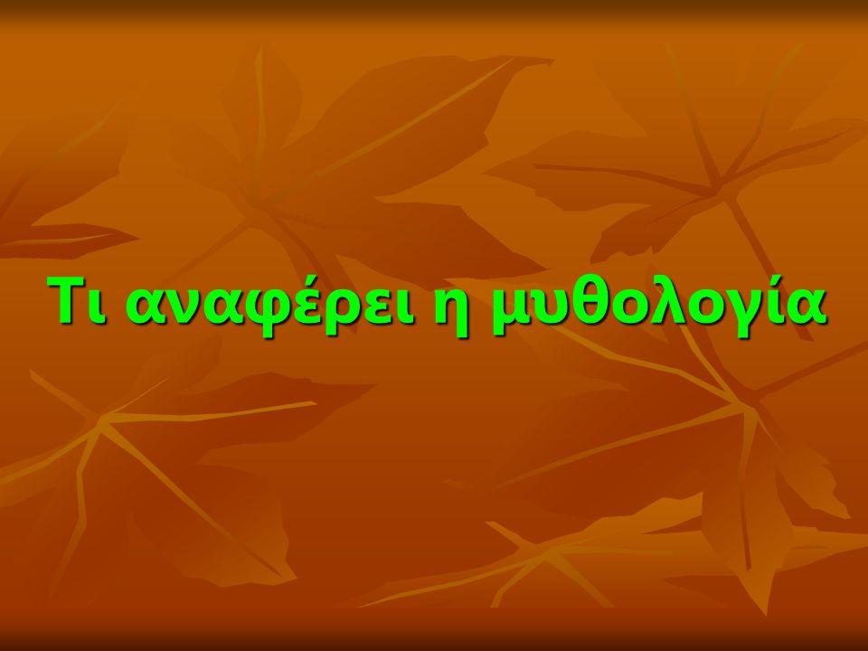  Σύμφωνα με τη μυθολογία την ελιά έφερε στους Έλληνες η Αθηνά, η οποία δίδαξε και την καλλιέργειά της.