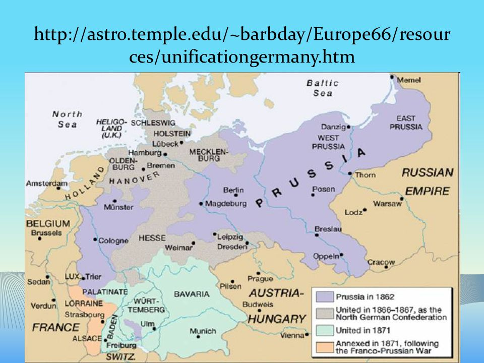 http://astro.temple.edu/~barbday/Europe66/resour ces/unificationgermany.htm