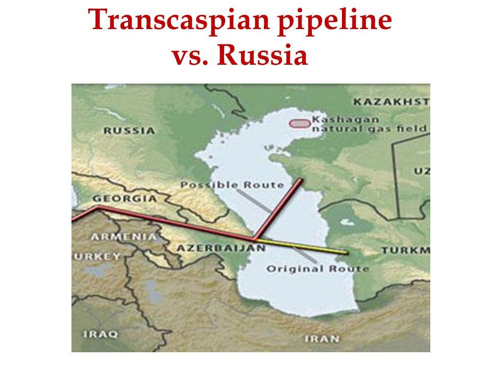 Transcaspian pipeline vs. Russia