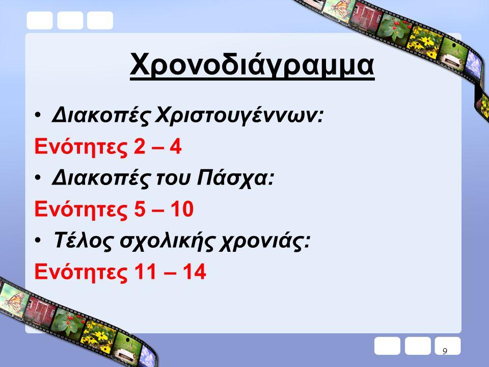 10 Ημερήσιος προγραμματισμός Βιβλίο δασκάλουΒιβλίο μαθητή