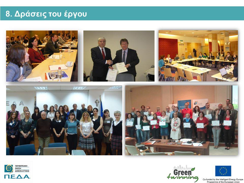 9.Τα οικονομικά στοιχεία του Έργου Ο Προϋπολογισμός του Green Twinning: 1.010.806 € Ευρ.