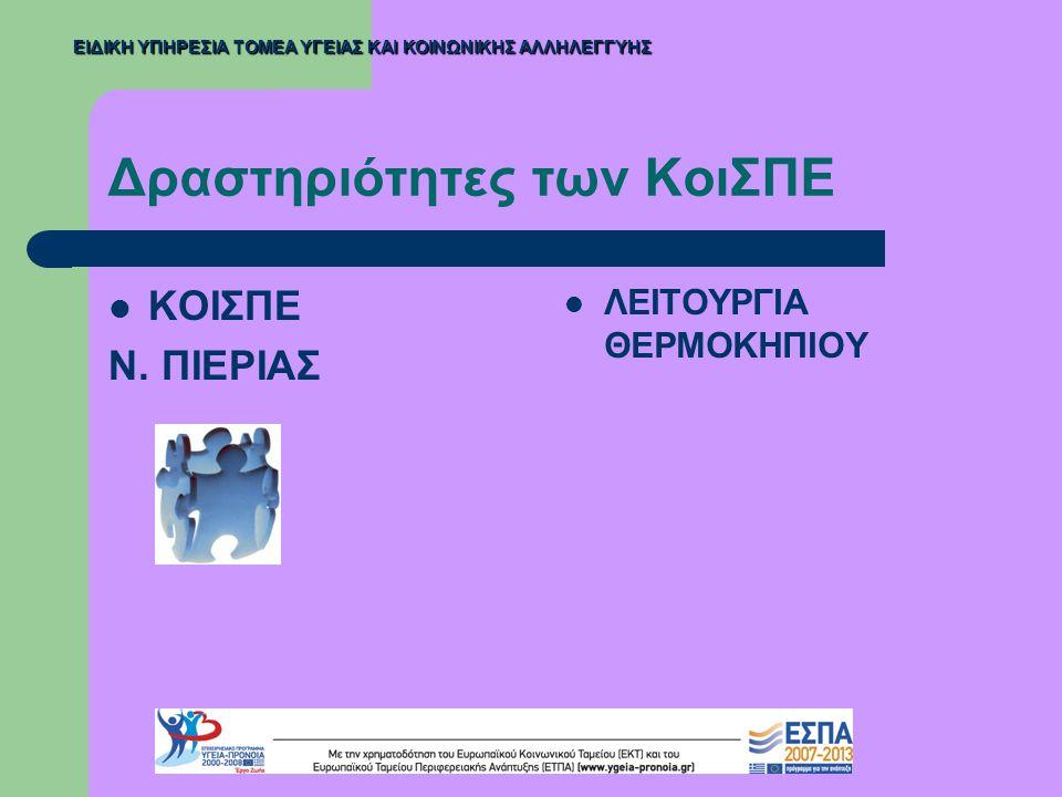 Ενέργειες της Διεύθυνσης Ψυχικής Υγείας  Ενημέρωση Υπουργείου Εσωτερικών και εποπτευόμενων φορέων (Ο.Τ.Α.