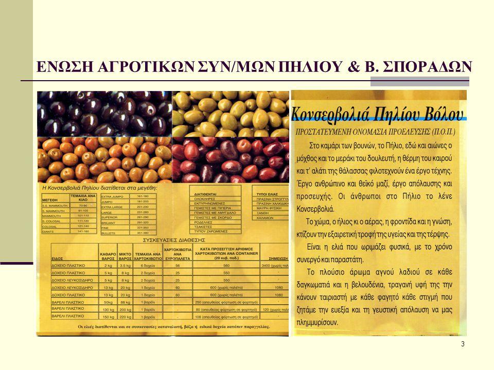 4 Φρούτα που συντηρεί η επιχείρηση