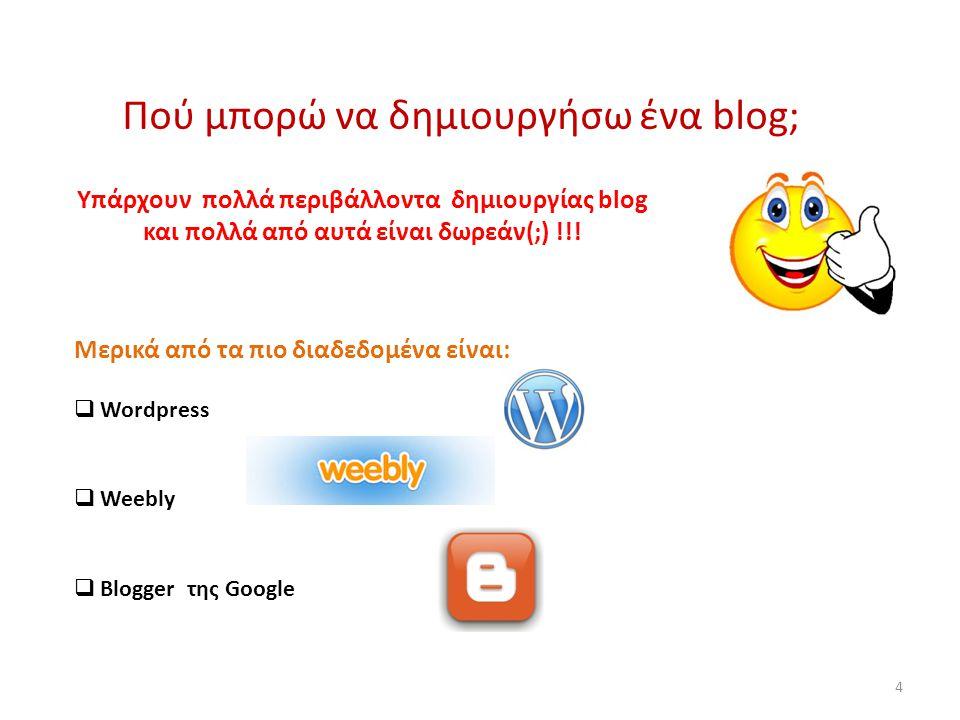 Είναι εύκολο να δημιουργήσω το δικό μου blog; Είναι πανεύκολο… αρκεί να είμαι αποφασισμένος να αποκτήσω την δικιά μου θέση στο WWW.