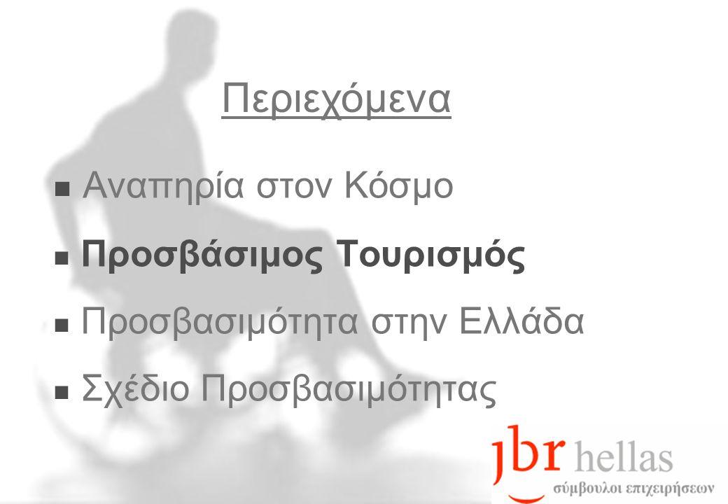  Αναπηρία στον Κόσμο  Προσβάσιμος Τουρισμός  Προσβασιμότητα στην Ελλάδα  Σχέδιο Προσβασιμότητας Περιεχόμενα