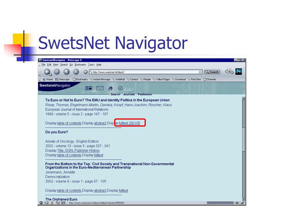 CSA Internet Database Service  Περιέχονται 7 βάσεις που μέχρι τώρα διατίθονταν μέσω της Silver Platter.