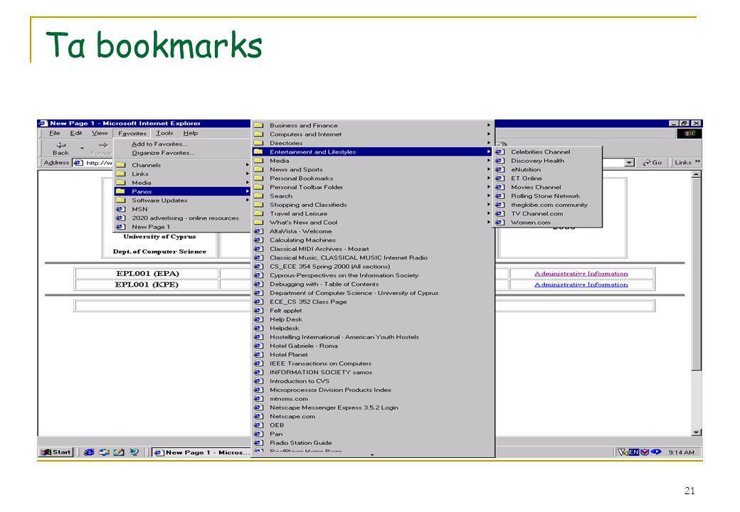 21 Τα bookmarks