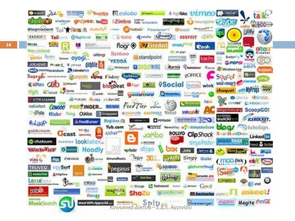 14 Κοινωνικά Δίκτυα – Σ. Δ. Ε. Αγρινίου