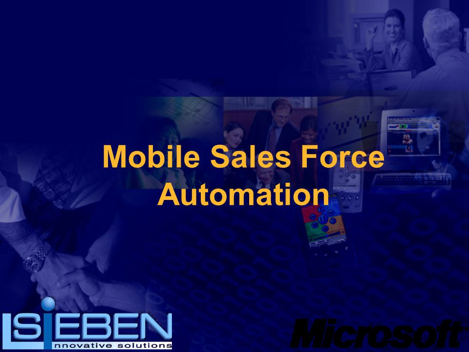 Mobile Sales Force Automation