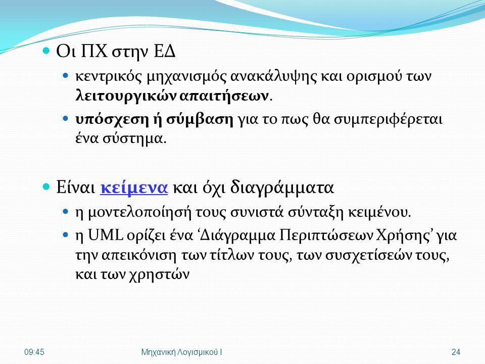  Οι ΠΧ στην ΕΔ  κεντρικός μηχανισμός ανακάλυψης και ορισμού των λειτουργικών απαιτήσεων.  υπόσχεση ή σύμβαση για το πως θα συμπεριφέρεται ένα σύστη