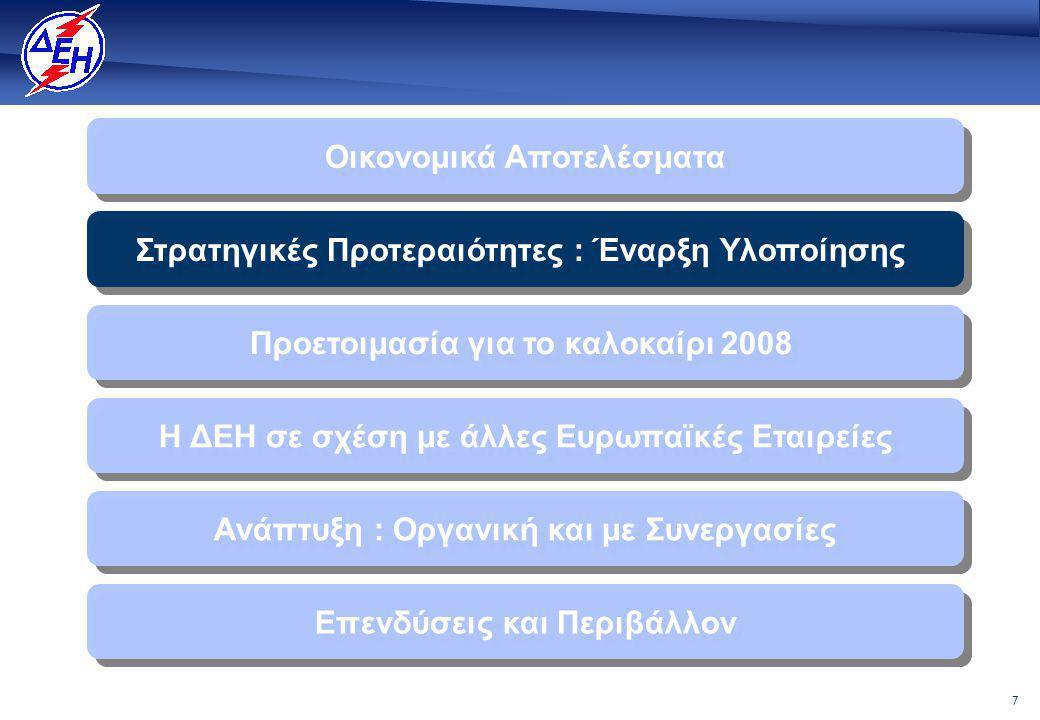 28 Η ΔΕΗ δρομολογεί παράλληλη ανάπτυξη: Οργανική και με συνεργασίες   Οι εταιρείες ενέργειας λειτουργούν σε γειτονικές και ευρύτερες αγορές   Η ΔΕΗ πρέπει να δραστηριοποιηθεί περαιτέρω στην περιφερειακή αγορά ενέργειας της Νοτιοανατολικής Ευρώπης   Στην αγορά της Νοτιανατολικής Ευρώπης δραστηριοποιούνται οι μεγαλύτερες Ευρωπαϊκές Εταιρείες.