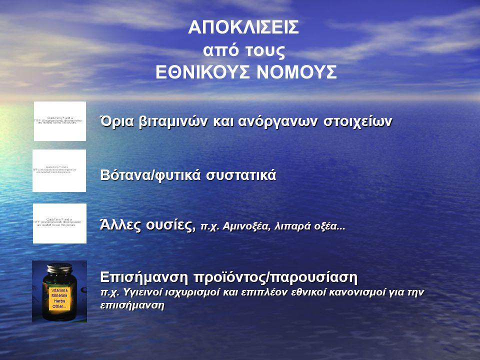 ΕΠΙΠΕΔΟ ΑΣΦΑΛΕΙΑΣ ΕΠΙΠΕΔΟ ΑΣΦΑΛΕΙΑΣ ~1-3 x ΣΗΔ Ολλανδία Σουηδία Αγγλία - Ειδικά επίπεδα: - Ειδικά επίπεδα: Κύπρος, Δημοκ.