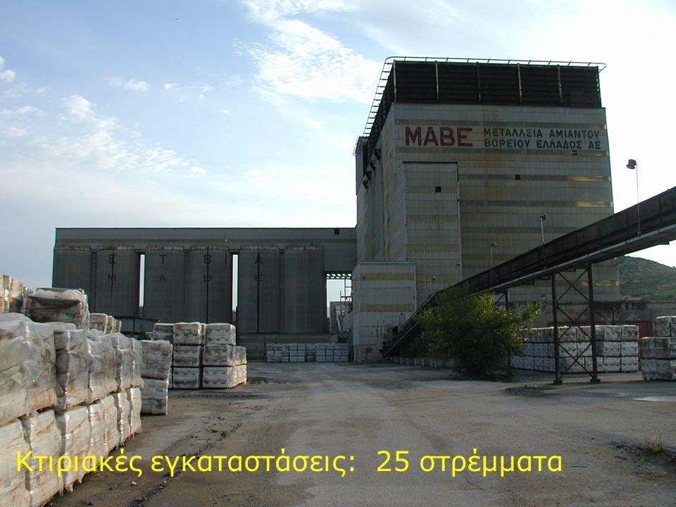 Κτιριακές εγκαταστάσεις: 25 στρέμματα