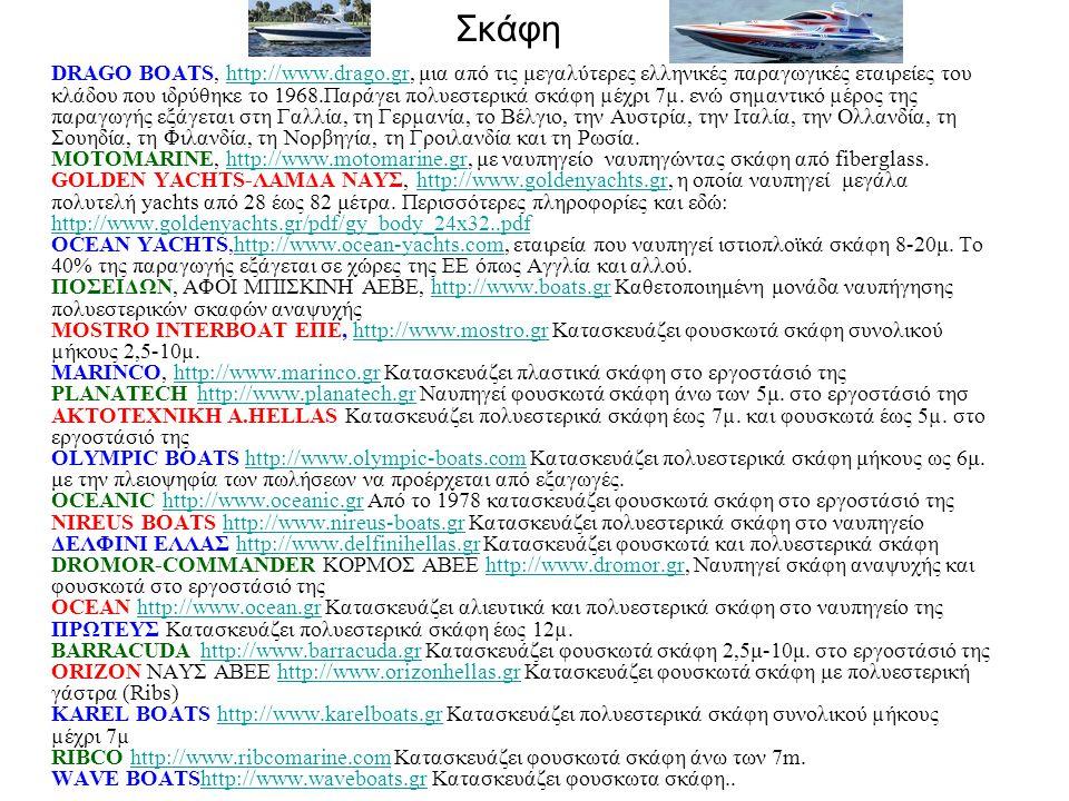 Σκάφη DRAGO BOATS, http://www.drago.gr, μια από τις μεγαλύτερες ελληνικές παραγωγικές εταιρείες του κλάδου που ιδρύθηκε το 1968.Παράγει πολυεστερικά σκάφη µέχρι 7µ.