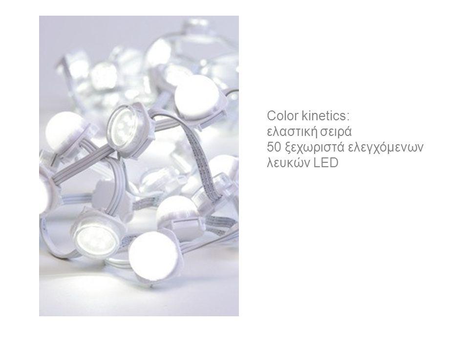 Color kinetics: ελαστική σειρά 50 ξεχωριστά ελεγχόμενων λευκών LED
