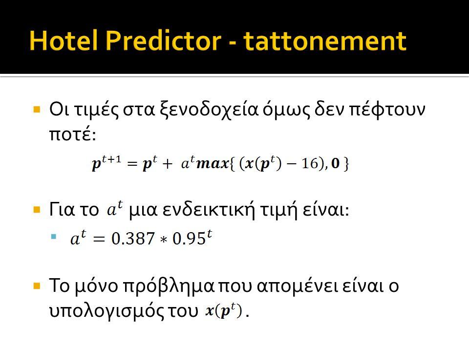  Οι τιμές στα ξενοδοχεία όμως δεν πέφτουν ποτέ:  Για το μια ενδεικτική τιμή είναι:   Το μόνο πρόβλημα που απομένει είναι ο υπολογισμός του.