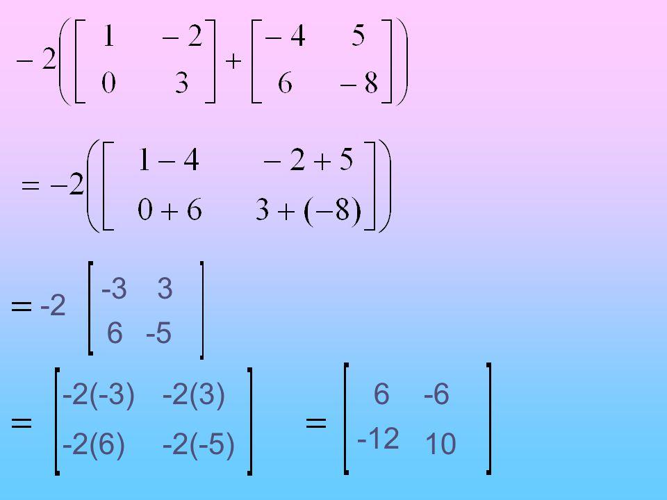 -2 6 -33 -2(-3) -5 -2(6)-2(-5) -2(3)6-6 -12 10