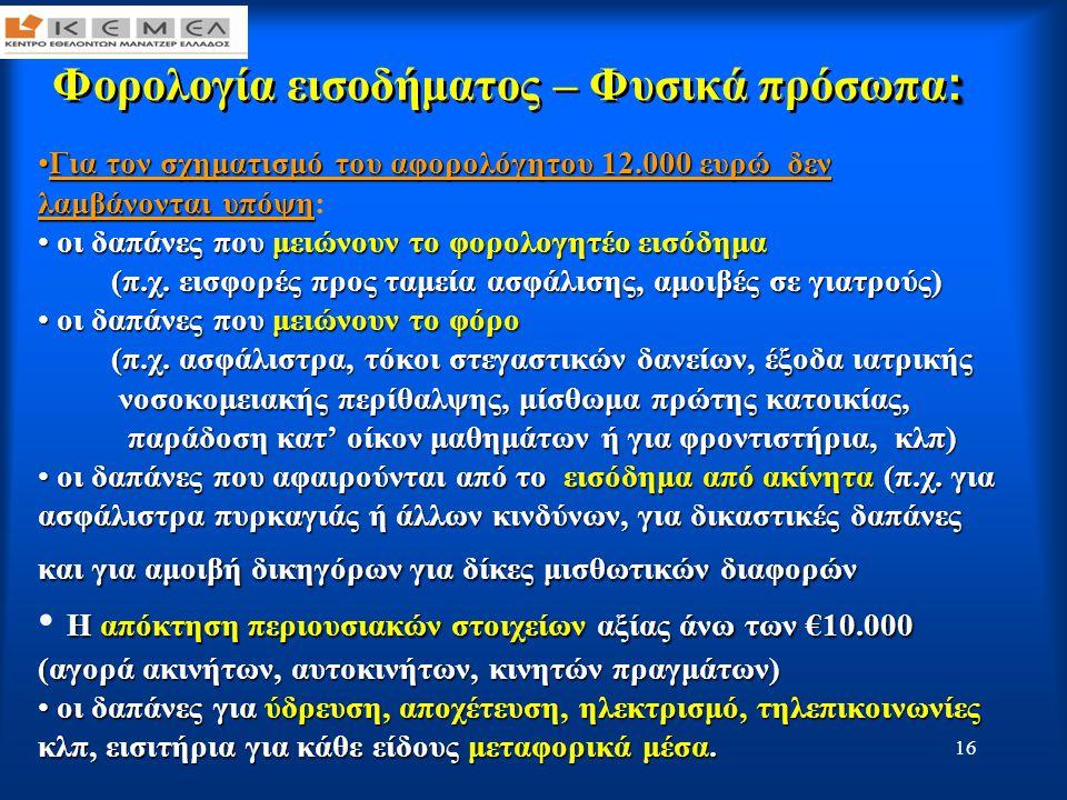 17 : Φορολογία εισοδήματος – Φυσικά πρόσωπα : ΠΩΣ ΘΑ ΥΠΟΒΛΗΘΟΥΝ ΟΙ ΑΠΟΔΕΙΞΕΙΣ Σε ειδική ηλεκτρονική φόρμα αν η δήλωση υποβληθεί ηλεκτρονικά ή σε κλειστό φάκελο στην αρμόδια Δ.Ο.Υ στον οποίο θα αναγράφονται: α.
