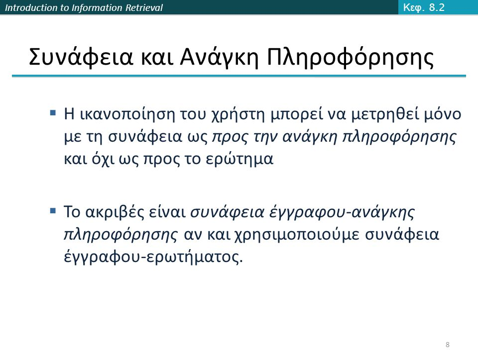 Introduction to Information Retrieval Ορθότητα Κεφ.