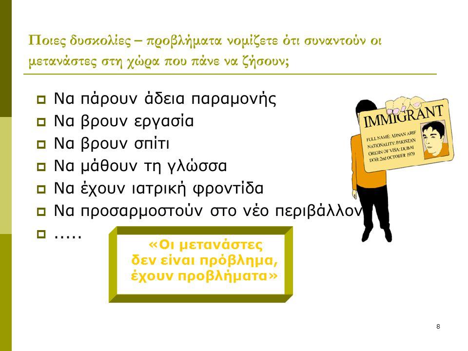 9 Ας μελετήσουμε περισσότερο το θέμα – εργασία σε ομάδες  Στους δρόμους της ξενιτιάς… Στους δρόμους της ξενιτιάς…  Κείμενο: «Μετανάστες»  Στατιστικός πίνακας  Σκίτσο  Κόμικς http://www.apn.gr