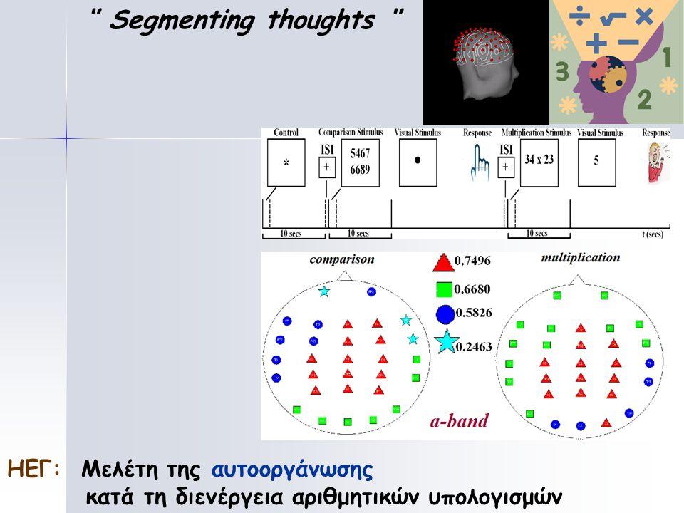 '' Segmenting thoughts '' ΗΕΓ: Μελέτη της αυτοοργάνωσης κατά τη διενέργεια αριθμητικών υπολογισμών