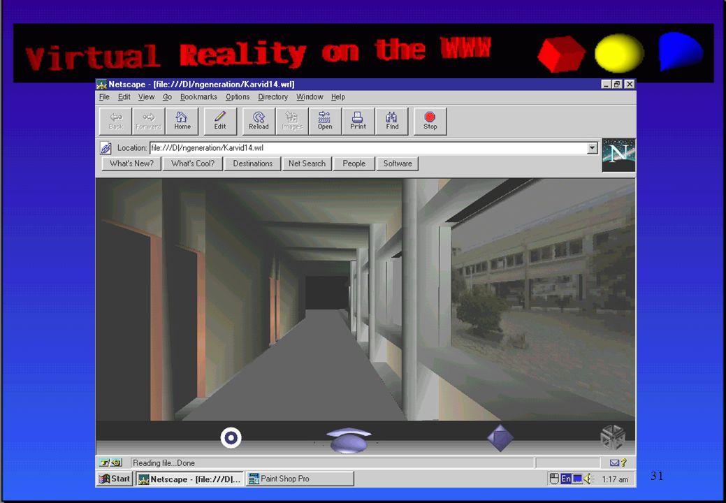 PeLAB - April 199730 ΕΠΟΜΕΝΟ ΒΗΜΑ •Εκμετάλλευση νέων χαρακτηριστικών της γλώσσας •Προοπτική για περισσότερο ρεαλιστική απεικόνιση των χώρων σχεδίασης