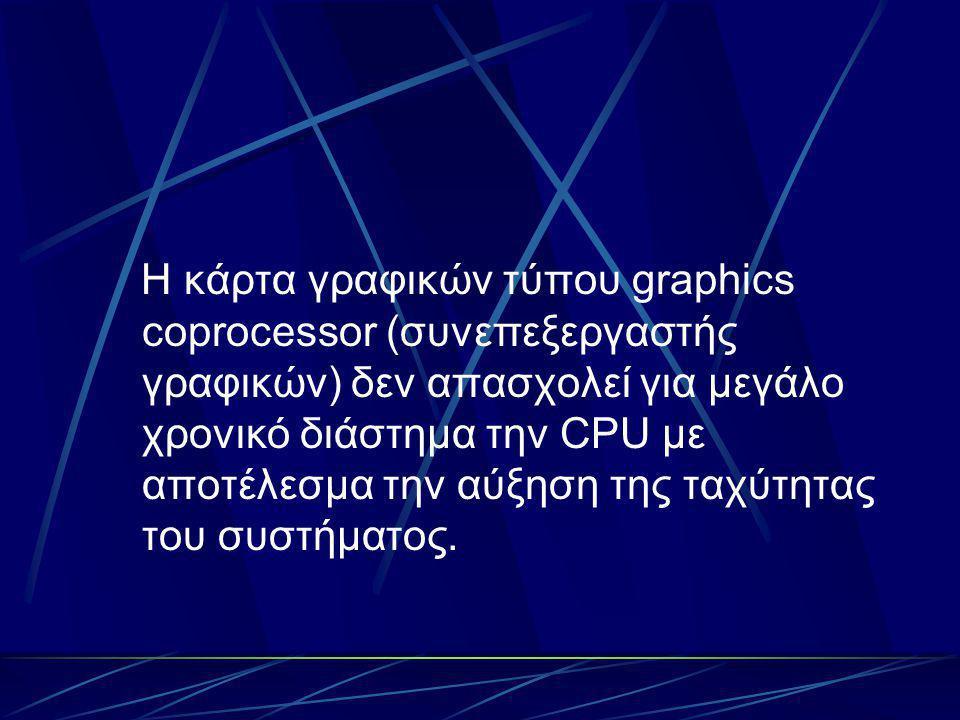 Τέλος η κάρτα γραφικών τύπου graphics processor (επεξεργαστής γραφικών) είναι η γρηγορότερη από τις προηγούμενες αλλά και ταυτόχρονα η λιγότερο συμβατή.