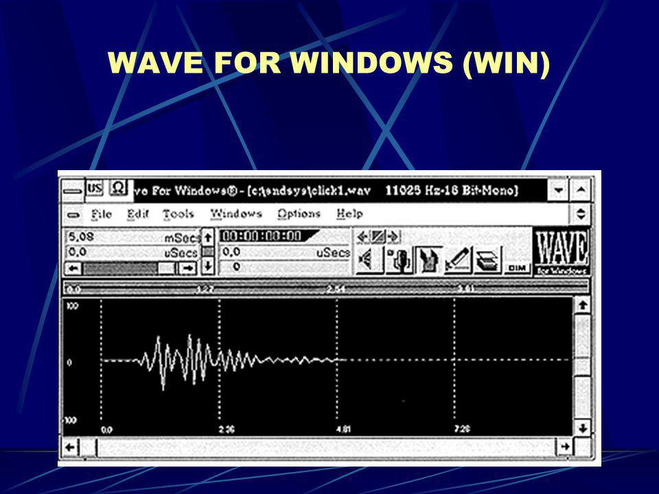 WAVE FOR WINDOWS (WIN)