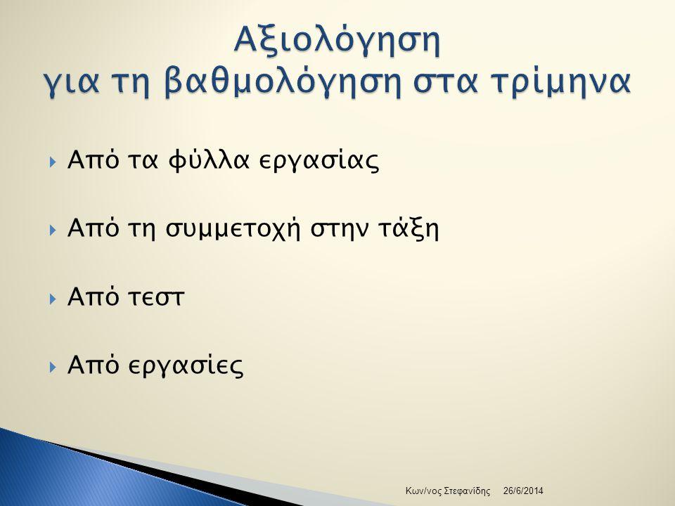 Δύο τρόποι  Από τους στόχους στις ερωτήσεις  Από τον πίνακα προδιαγραφών 26/6/2014Κων/νος Στεφανίδης