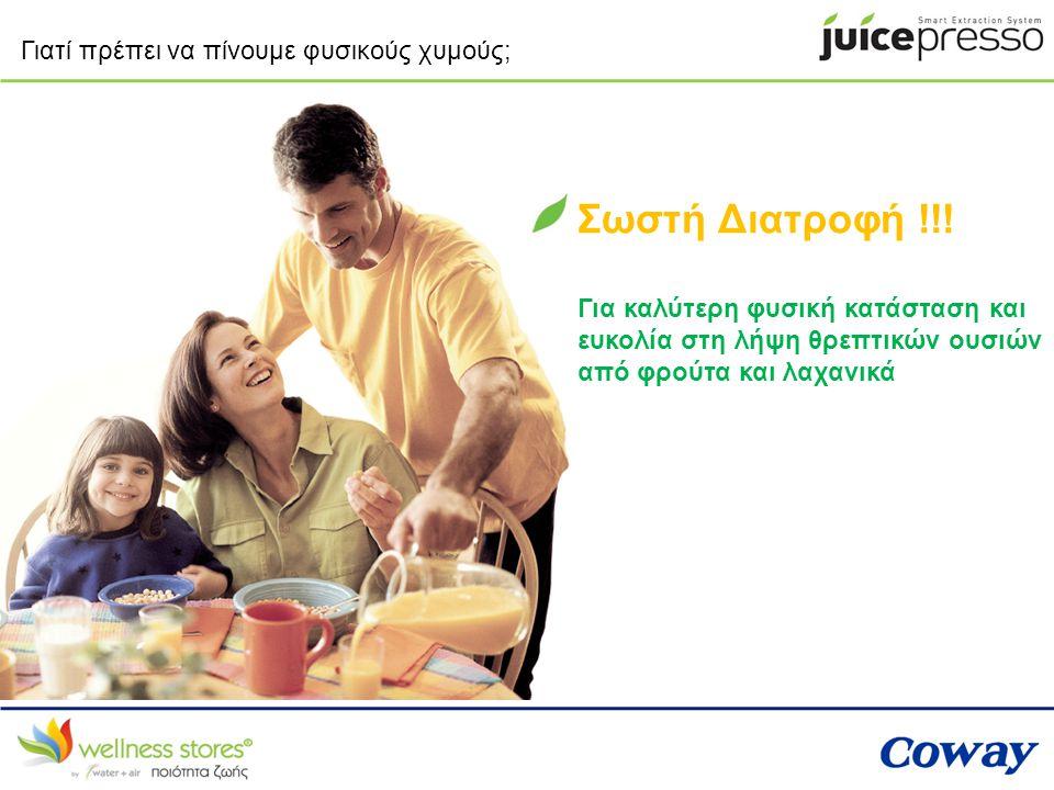 Ο καλύτερος τρόπος λήψης θρεπτικών ουσιών από τα φρούτα: Ολόκληρα ΦρούταΧυμός Φρούτων 25% θρεπτικής ουσίας από τα ολόκληρα φρούτα, λόγω των φυτικών ινών 65% θρεπτικής ουσίας από το χυμό φρούτων