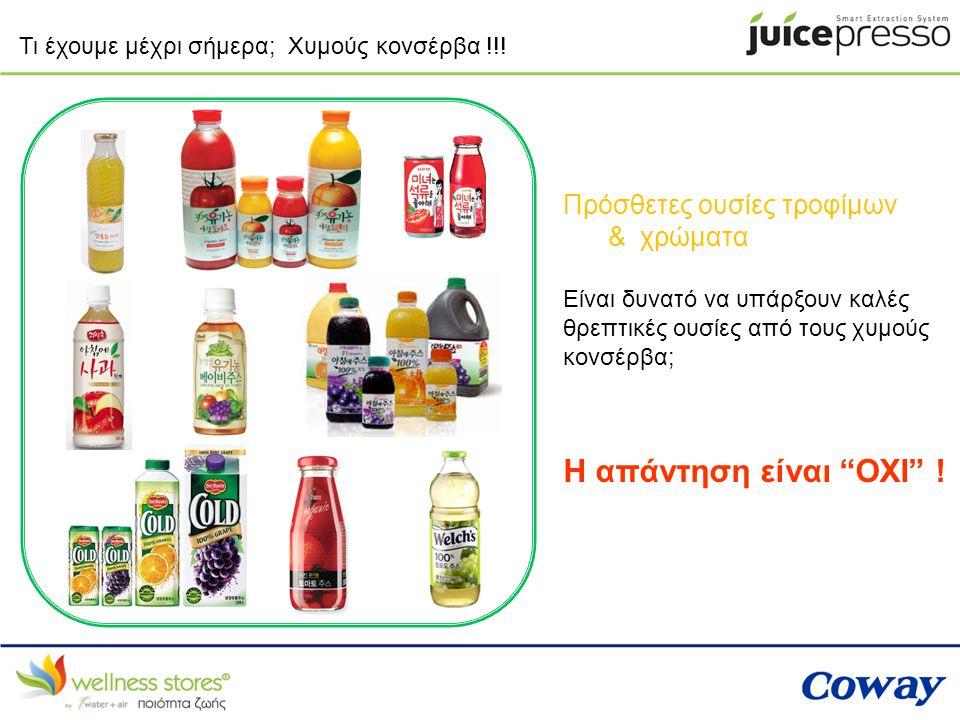 Τι έχουμε μέχρι σήμερα; Χυμούς κονσέρβα !!! Πρόσθετες ουσίες τροφίμων & χρώματα Είναι δυνατό να υπάρξουν καλές θρεπτικές ουσίες από τους χυμούς κονσέρ