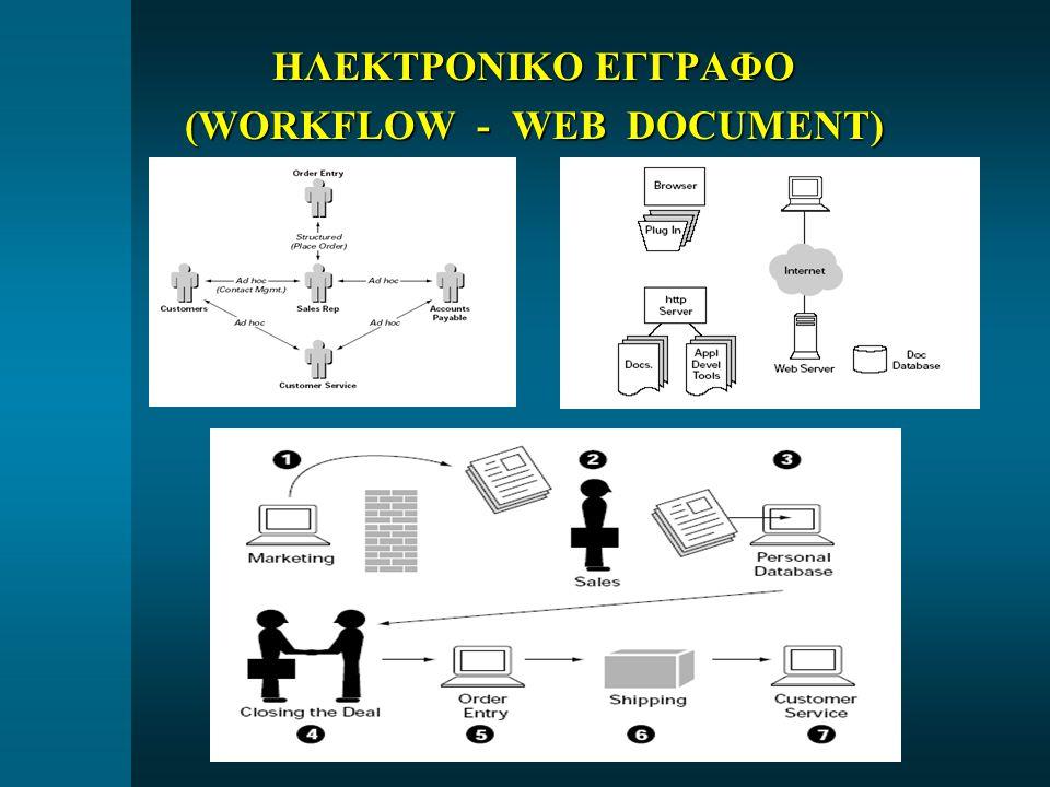 ΗΛΕΚΤΡΟΝΙΚΟ ΕΓΓΡΑΦΟ (WORKFLOW - WEB DOCUMENT)