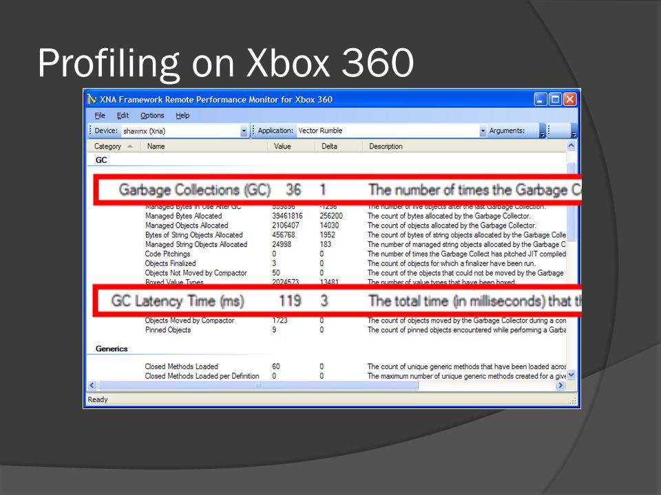 Profiling on Xbox 360