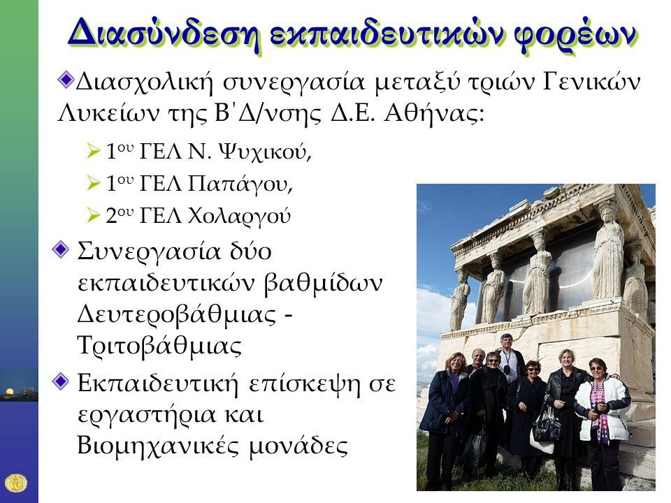 Διασύνδεση εκπαιδευτικών φορέων  1 ου ΓΕΛ Ν.