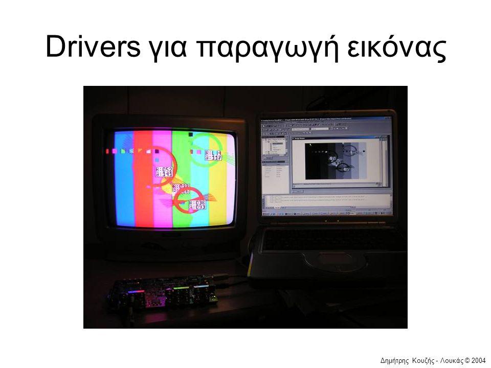 Δημήτρης Κουζής - Λουκάς © 2004 Drivers για παραγωγή εικόνας