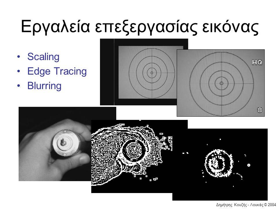 Δημήτρης Κουζής - Λουκάς © 2004 Εργαλεία επεξεργασίας εικόνας •Scaling •Edge Tracing •Blurring
