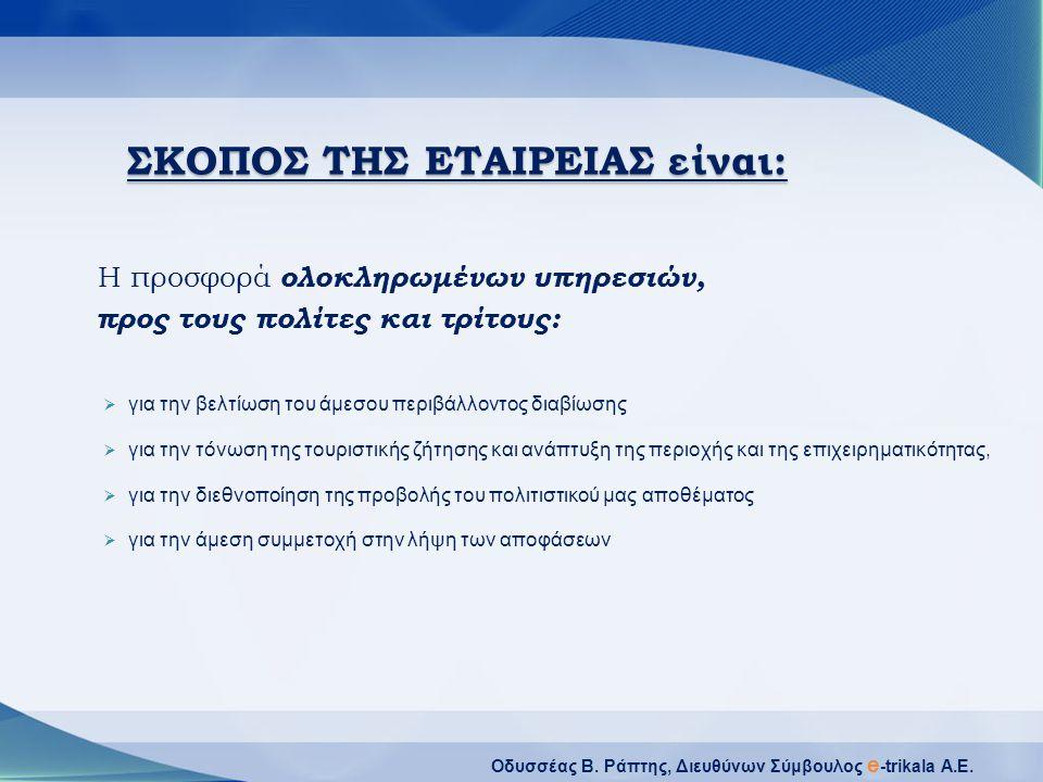 Οδυσσέας Β.Ράπτης, Διευθύνων Σύμβουλος e -trikala A.E.