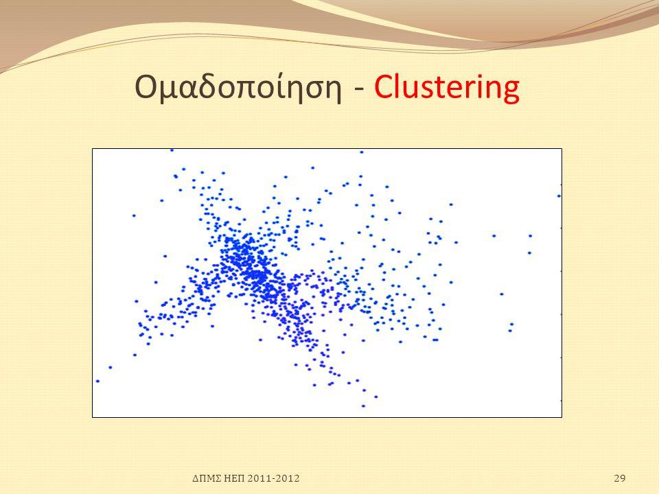 Ομαδοποίηση - Clustering ΔΠΜΣ ΗΕΠ 2011-201229