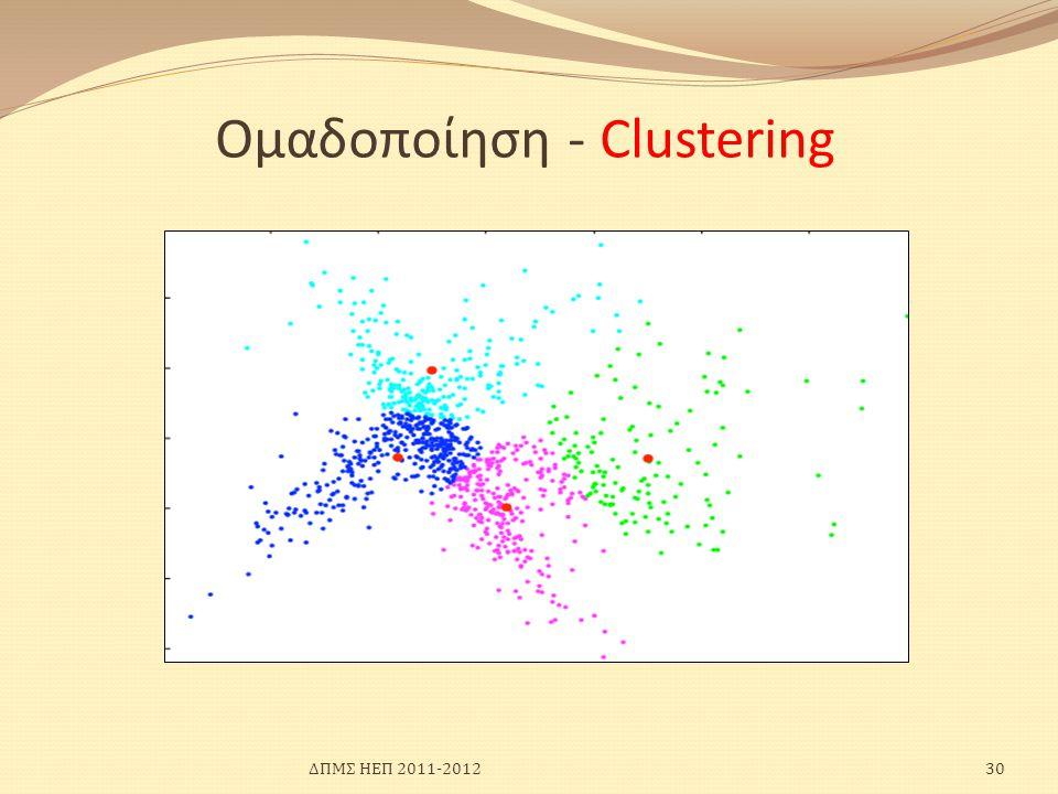 Ομαδοποίηση - Clustering ΔΠΜΣ ΗΕΠ 2011-201230