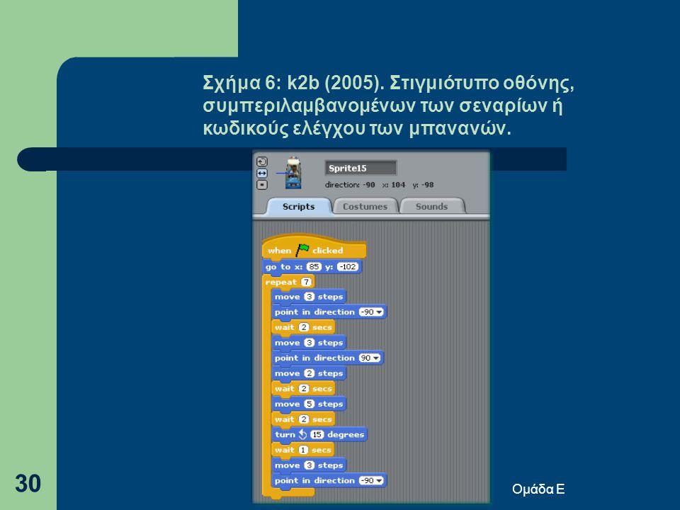 Ομάδα Ε 30 Σχήμα 6: k2b (2005).