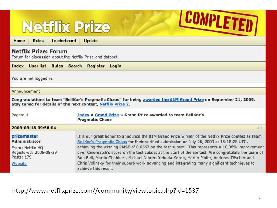 9 http://www.netflixprize.com//community/viewtopic.php id=1537
